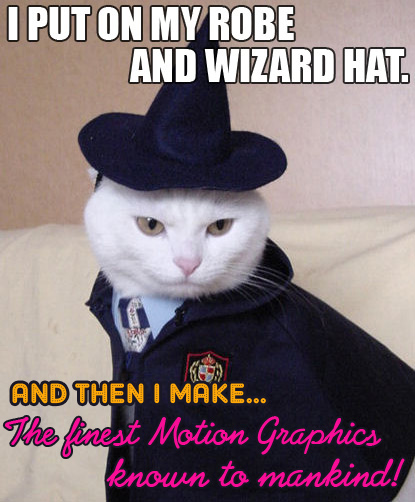 Motion Graphics Cat Wizard