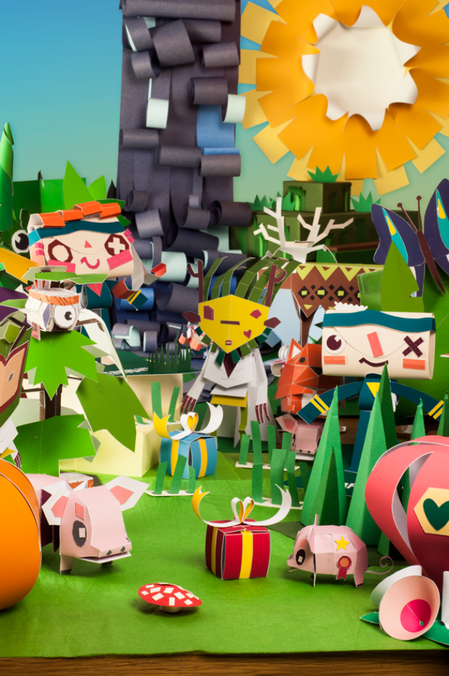 building your own papercraft world with tearaway media molecule